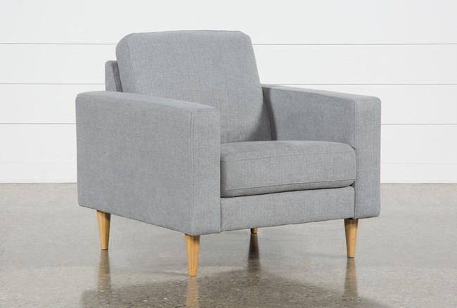 Angie Light Grey Chair - 360