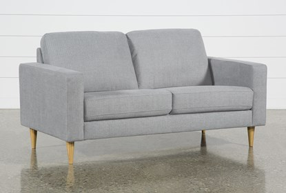 Groovy Angie Light Grey Loveseat Bralicious Painted Fabric Chair Ideas Braliciousco