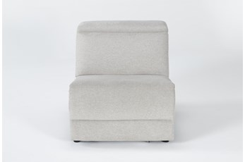 Chanel Grey Power Armless Recliner With Power Headrest
