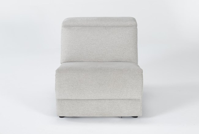 Chanel Grey Power Armless Recliner With Power Headrest - 360