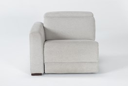 Chanel Grey Left Facing Power Recliner With Power Headrest