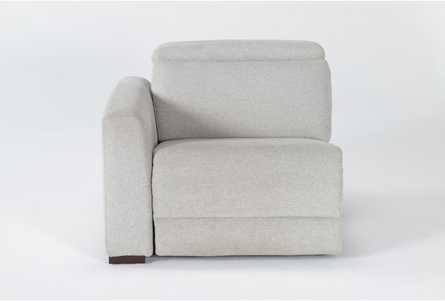Chanel Grey Left Facing Power Recliner With Power Headrest - 360