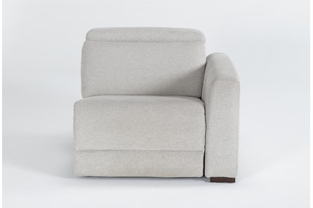 Chanel Grey Right Facing Power Recliner With Power Headrest