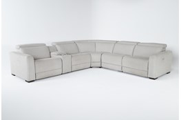 "Chanel Grey 6 Piece 132"" Power Reclining Sectional"