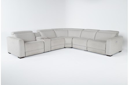 Chanel Grey 6 Piece Power Reclining Sectional