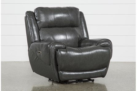 Shasta Leather Power Recliner With Power Headrest & Usb