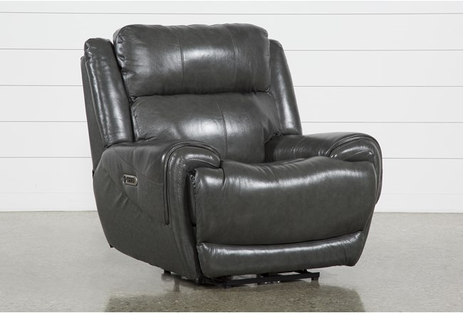 Shasta Leather Power Recliner With Power Headrest Amp Usb
