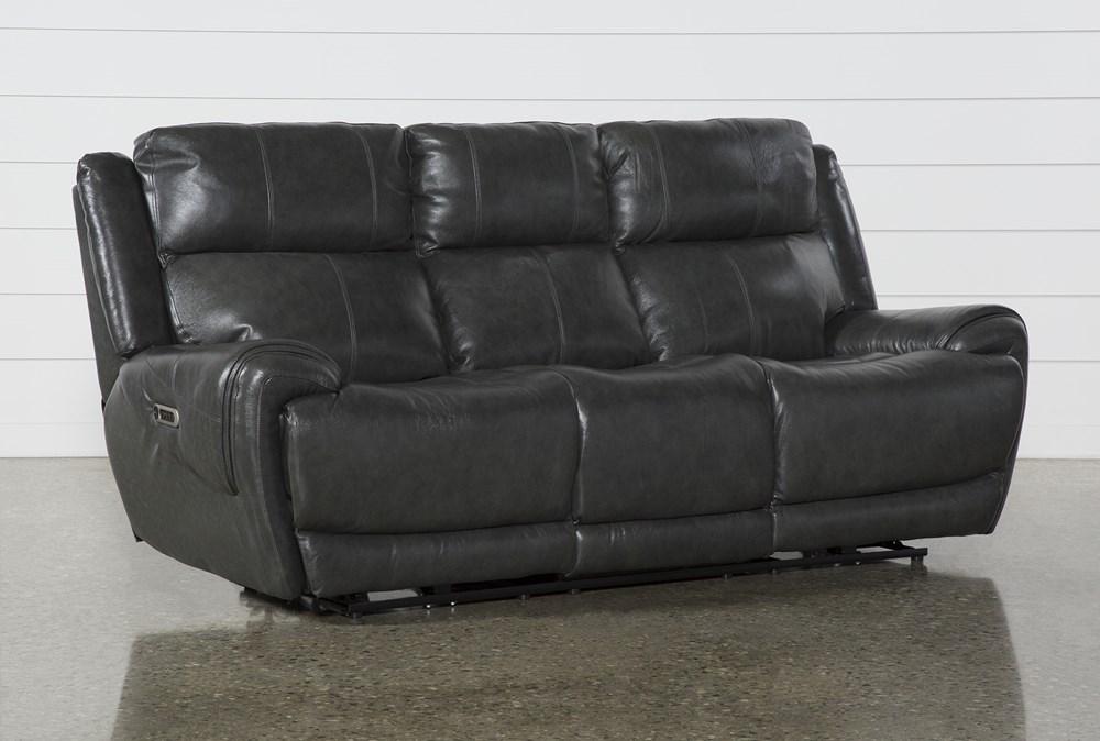 Shasta Leather Power Reclining Sofa With Power Headrest & Usb