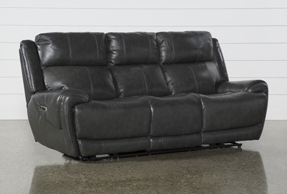 Brilliant Shasta Leather Power Reclining Sofa With Power Headrest Usb Pabps2019 Chair Design Images Pabps2019Com