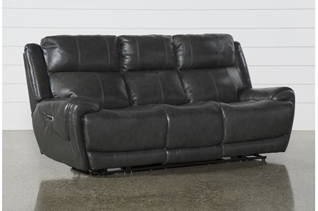 Shasta Leather Power Reclining Sofa With Power Headrest & Usb