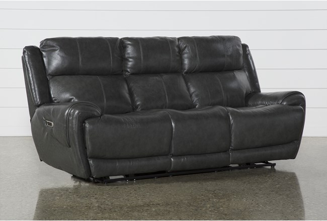 Shasta Leather Power Reclining Sofa With Power Headrest