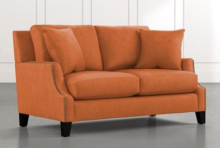 Kayla Orange Loveseat