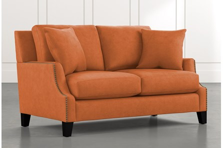Kayla Orange Loveseat