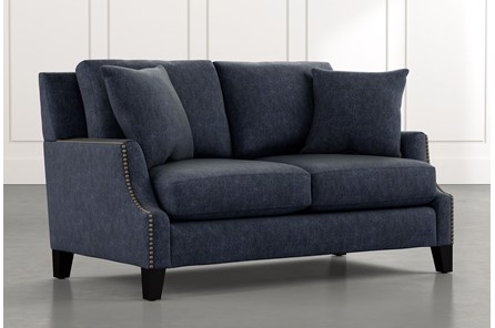 Kayla Navy Blue Loveseat
