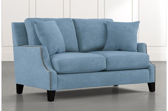 Kayla Light Blue Loveseat
