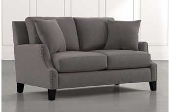 Kayla Dark Grey Loveseat