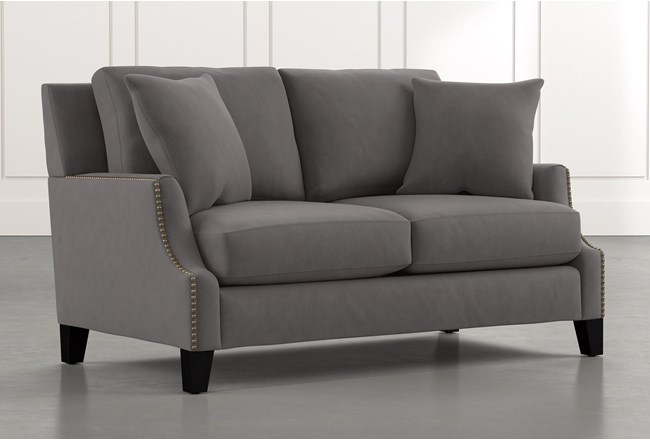 Kayla Dark Grey Loveseat - 360