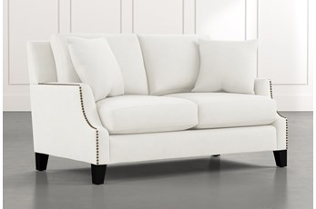 Kayla White Loveseat