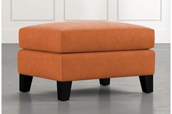 Kayla Orange Ottoman