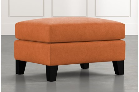 Kayla Orange Ottoman
