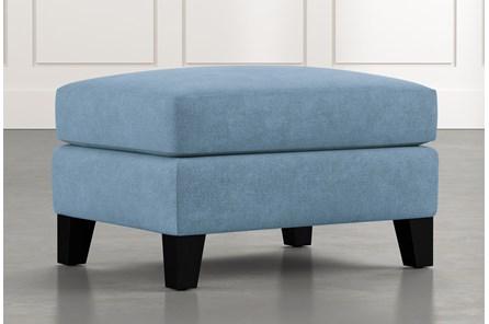 Kayla Light Blue Ottoman