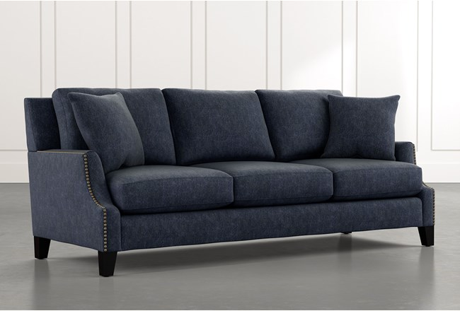 Kayla Navy Blue Sofa - 360
