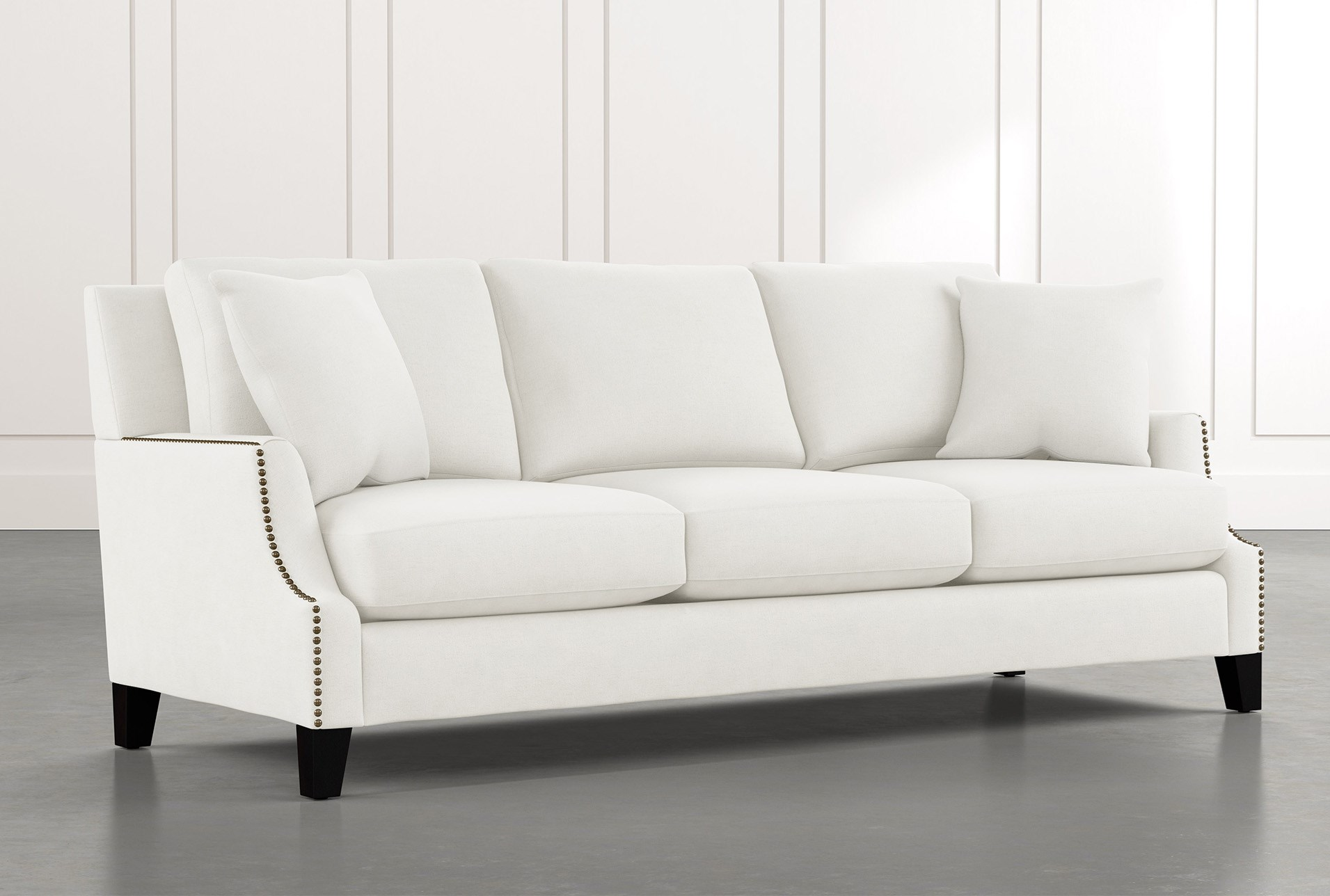 Kayla White Sofa   Living Spaces