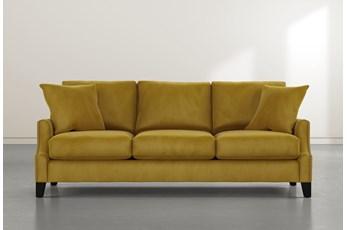 Kayla Gold Velvet Sofa