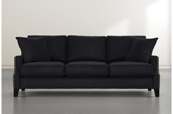 Kayla Dark Grey Velvet Sofa