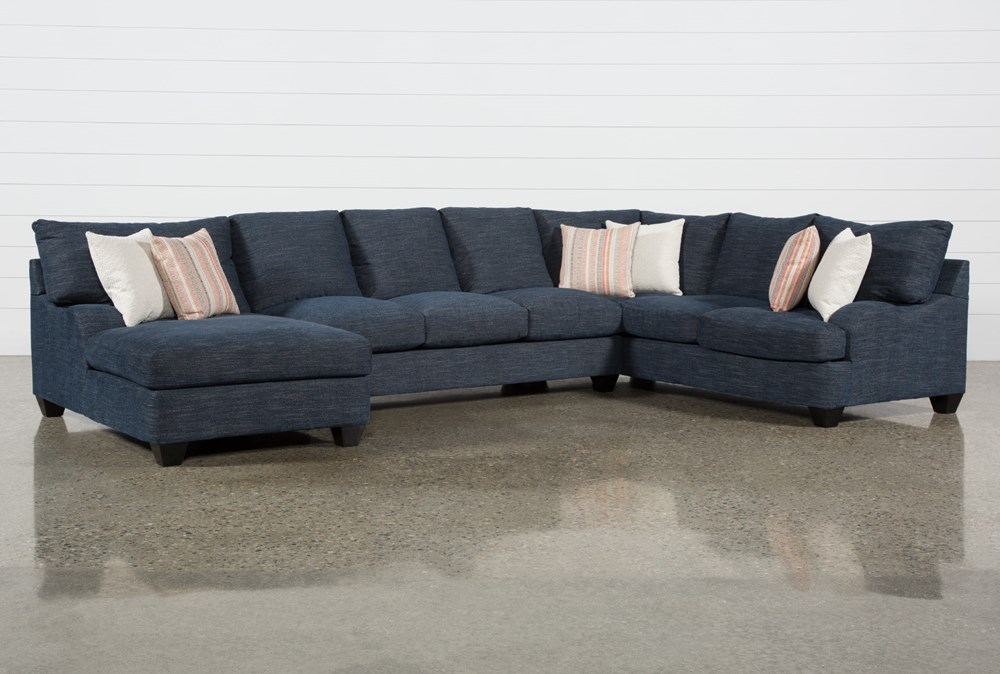 """Sierra Down III 3 Piece 157"""" Sectional With Left Arm Facing Chaise"""