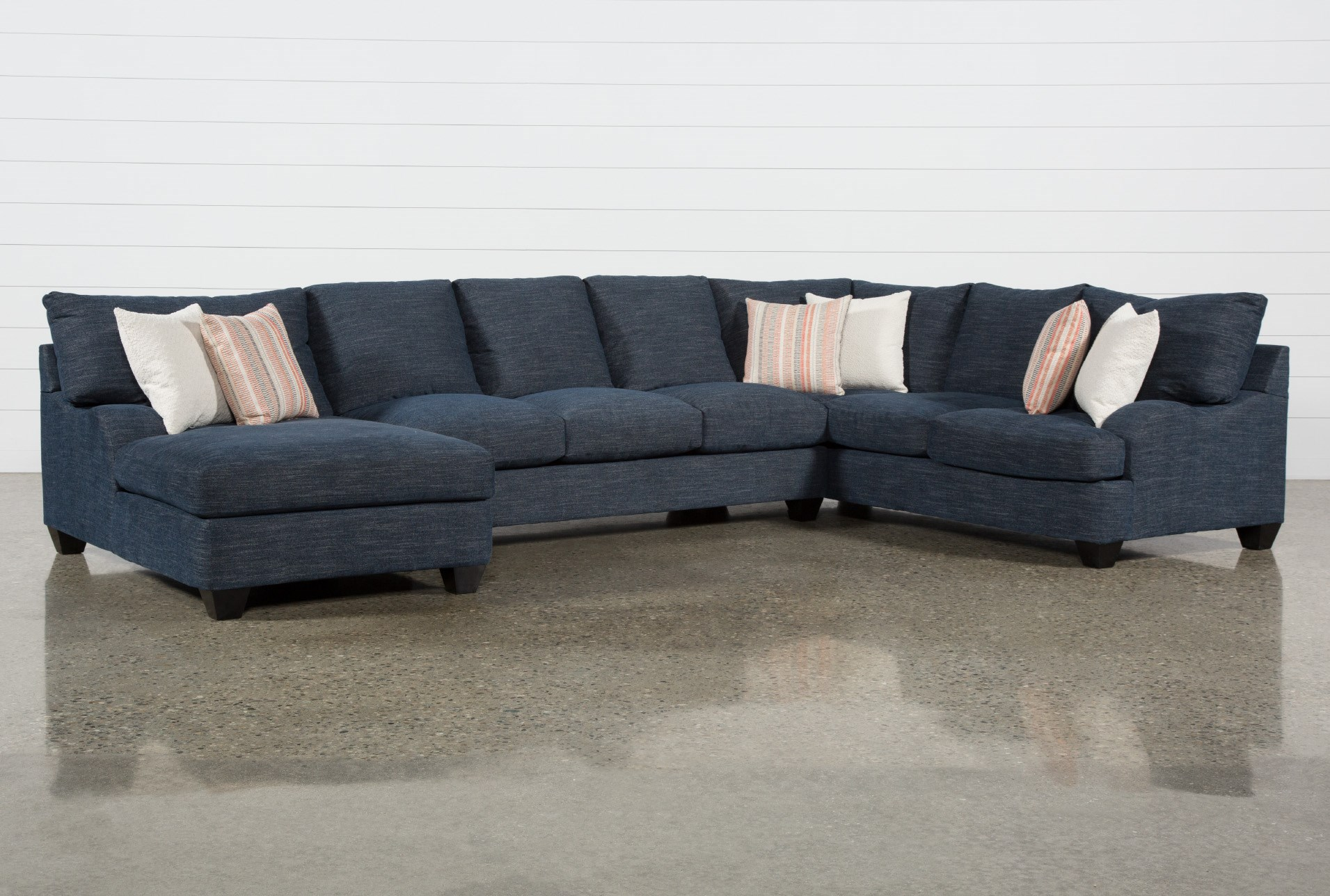 Sierra Down III 3 Piece Sectional With Left Arm Facing Chaise ...