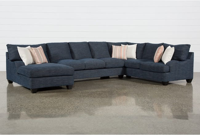 Sierra Down III 3 Piece Sectional With Left Arm Facing Chaise - 360