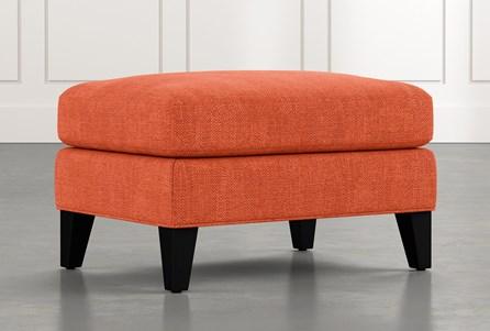 Avery II Orange Ottoman