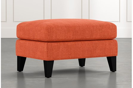 Avery II Orange Ottoman