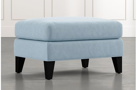 Avery II Light Blue Ottoman