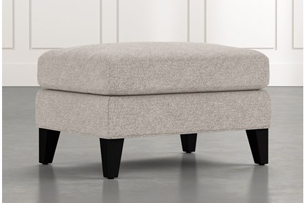 Avery II Light Grey Ottoman