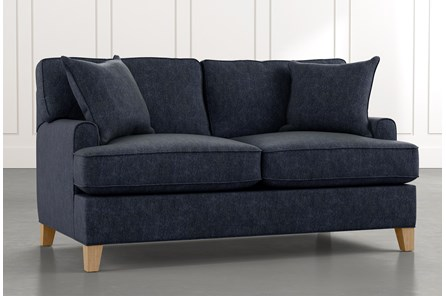 Emerson II Navy Blue Loveseat