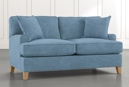 Emerson II Light Blue Loveseat