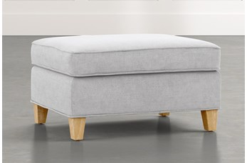 Emerson II Light Grey Ottoman
