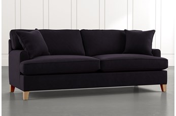 "Emerson II 88"" Black Sofa"