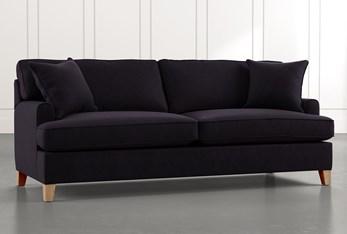 "Emerson II 88"" Black Sofa"