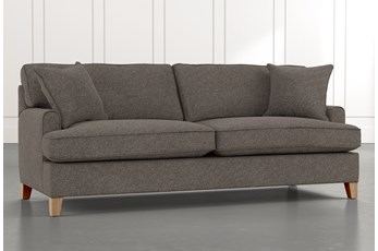 "Emerson II 88"" Grey Sofa"