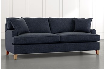 "Emerson II 88"" Navy Blue Sofa"
