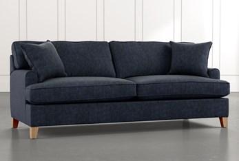 "Emerson II 88"" Navy Blue Sofa"