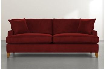 Emerson II Burgundy Velvet Sofa