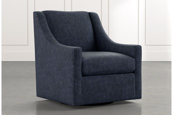 Emerson II Navy Blue Accent Chair