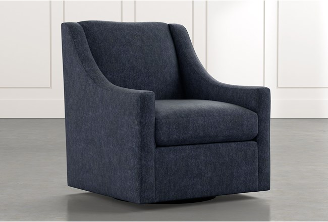 Emerson II Navy Blue Accent Chair - 360