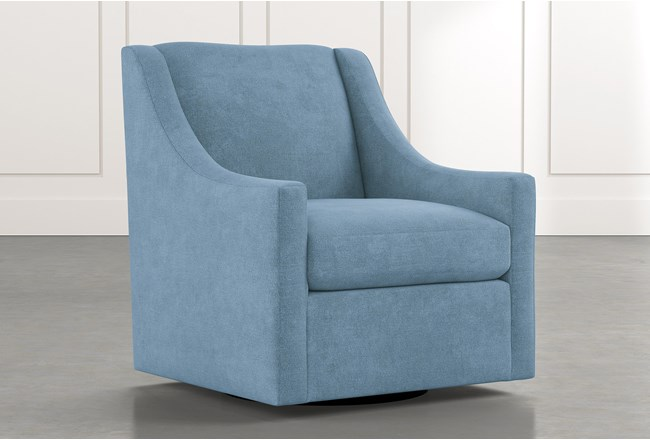 Emerson II Light Blue Accent Chair - 360