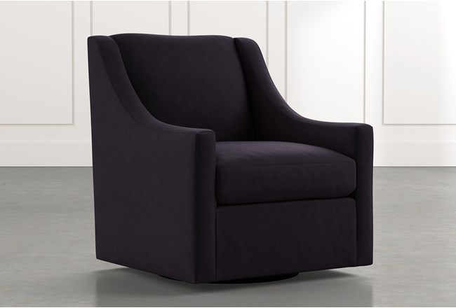 Emerson II Black Accent Chair - 360