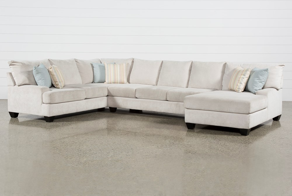 "Harper Foam II 3 Piece 157"" Sectional With Right Arm Facing Chaise"